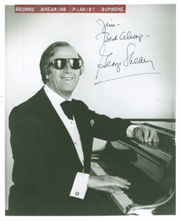 GEORGE SHEARING - AUTOGRAPHED INSCRIBED PHOTOGRAPH