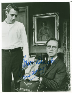 A DOLL'S HOUSE MOVIE CAST (1959) - AUTOGRAPHED SIGNED PHOTOGRAPH CO-SIGNED BY: HUME CRONYN, JASON ROBARDS JR.