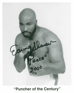 EARNIE SHAVERS - AUTOGRAPHED SIGNED PHOTOGRAPH 2000