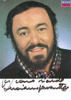 LUCIANO PAVAROTTI - AUTOGRAPHED INSCRIBED PHOTOGRAPH