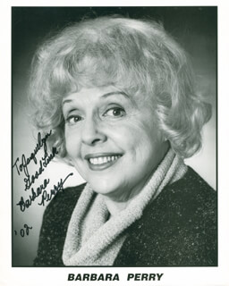 BARBARA PERRY - AUTOGRAPHED INSCRIBED PHOTOGRAPH 2002