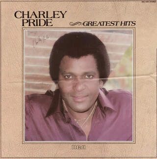CHARLEY PRIDE - AUTOGRAPHED SIGNED POSTER