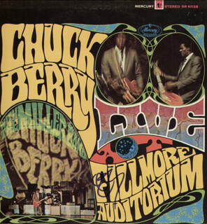 CHUCK BERRY - RECORD ALBUM COVER SIGNED