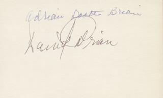 ADRIAN (LORNA GRAY) BOOTH - AUTOGRAPH CO-SIGNED BY: DAVID BRIAN