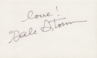 GALE STORM - AUTOGRAPH SENTIMENT SIGNED