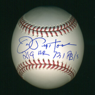 JOE PEPI PEPITONE - ANNOTATED BASEBALL SIGNED