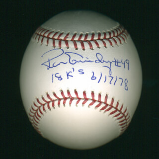 RON LOUISIANA LIGHTNING GUIDRY - ANNOTATED BASEBALL SIGNED