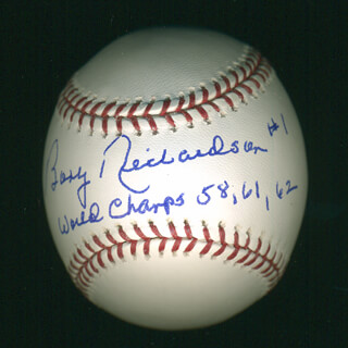 Autographs: BOBBY RICHARDSON - ANNOTATED BASEBALL SIGNED