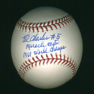ED CHARLES - ANNOTATED BASEBALL SIGNED