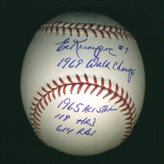 ED KRANEPOOL - ANNOTATED BASEBALL SIGNED