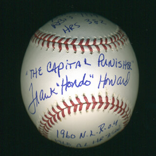 FRANK HONDO HOWARD - ANNOTATED BASEBALL SIGNED