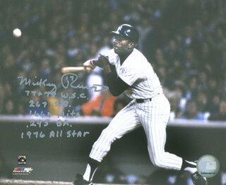 MICKEY RIVERS - AUTOGRAPHED SIGNED PHOTOGRAPH