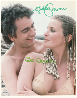 Autographs: 10 MOVIE CAST - PHOTOGRAPH SIGNED CO-SIGNED BY: BO DEREK, DUDLEY MOORE