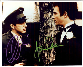 Autographs: GODFATHER MOVIE CAST - PHOTOGRAPH SIGNED CO-SIGNED BY: AL PACINO, JAMES CAAN