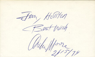 ARCHIE MOORE - INSCRIBED SIGNATURE 02/15/1974
