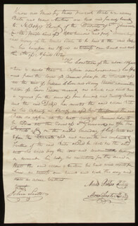 Autographs: MOSES AUSTIN - MANUSCRIPT DOCUMENT SIGNED 04/05/1812 CO-SIGNED BY: MOSES BATES