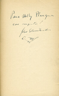 JOHN STEINBECK - INSCRIBED BOOK SIGNED