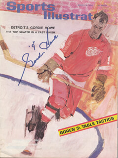 GORDIE HOWE - MAGAZINE COVER SIGNED