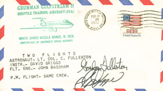 COLONEL C. GORDON FULLERTON - COMMEMORATIVE ENVELOPE SIGNED CO-SIGNED BY: S. DAVID GRIGGS