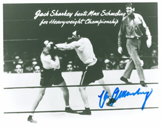 MAX SCHMELING - PRINTED PHOTOGRAPH SIGNED IN INK