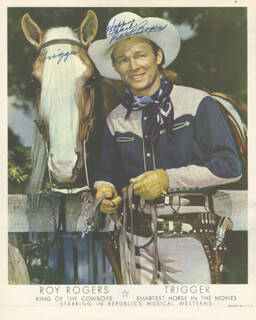 ROY ROGERS - PRINTED PHOTOGRAPH SIGNED IN INK