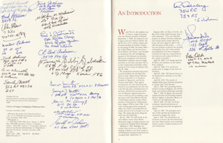 Autographs: MAJOR JOSEPH H. BENNETT - BOOK SIGNED CO-SIGNED BY: COLONEL FRANCIS S. GABBY GABRESKI, BRIGADIER GENERAL ROBIN OLDS, COLONEL C. E. BUD ANDERSON, COLONEL WALKER M. BUD MAHURIN, COLONEL FREDERICK J. CHRISTENSEN, URBAN L. DREW, LT. COLONEL JAMES A. GOODY GOODSON, GERALD WALTER JERRY JOHNSON, LT. COLONEL CLYDE B. EAST, MARLOW J. LEIKNESS, LT. GENERAL GEORGE G. LOVING JR., CAPTAIN KEN DAHLBERG, RICHARD ASBURY