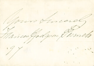 FRANCES HODGSON BURNETT - AUTOGRAPH SENTIMENT SIGNED 1897