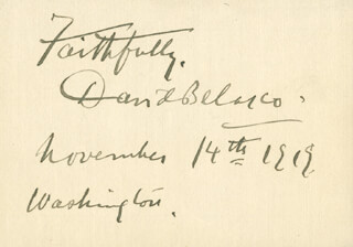 DAVID BELASCO - AUTOGRAPH SENTIMENT SIGNED 11/14/1919