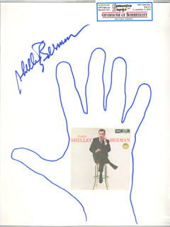 Autographs: SHELLEY BERMAN - HAND/FOOT PRINT OR SKETCH SIGNED