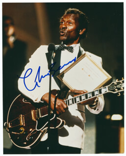 CHUCK BERRY - AUTOGRAPHED SIGNED PHOTOGRAPH  - HFSID 286917