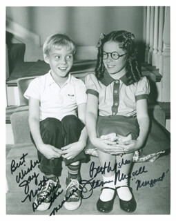 DENNIS THE MENACE TV CAST - AUTOGRAPHED SIGNED PHOTOGRAPH CO-SIGNED BY: JAY NORTH, JEANNE RUSSELL