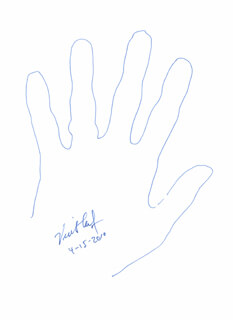 Autographs: VINTON G. CERF - HAND/FOOT PRINT OR SKETCH SIGNED 04/15/2010