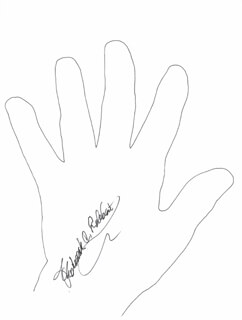 Autographs: FREDERICK C. ROBBINS - HAND/FOOT PRINT OR SKETCH SIGNED