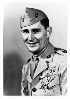 BRIGADIER GENERAL JOSEPH J. JOE FOSS - AUTOGRAPHED SIGNED PHOTOGRAPH