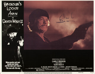 CHARLES BRONSON - LOBBY CARD SIGNED