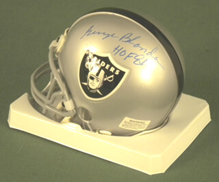 GEORGE BLANDA - MINIATURE HELMET SIGNED