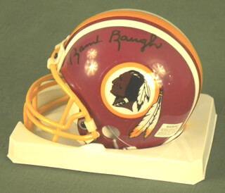 SAMMY BAUGH - HELMET SIGNED