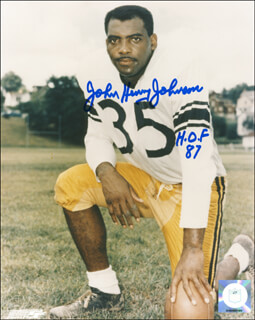 JOHN HENRY (FOOTBALL) JOHNSON - AUTOGRAPHED SIGNED PHOTOGRAPH