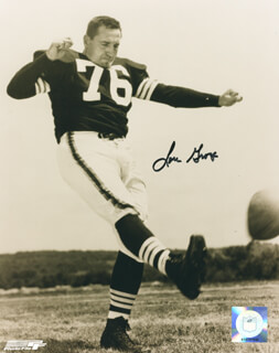 LOU THE TOE GROZA - AUTOGRAPHED SIGNED PHOTOGRAPH