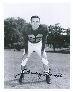 CHARLEY TRIPPI - AUTOGRAPHED SIGNED PHOTOGRAPH