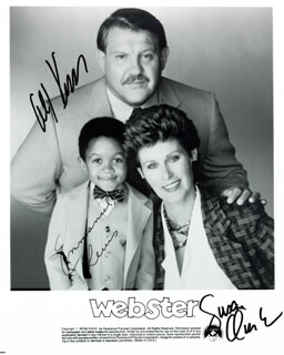 WEBSTER TV CAST - AUTOGRAPHED SIGNED PHOTOGRAPH CO-SIGNED BY: ALEX KARRAS, EMMANUEL LEWIS, SUSAN CLARK