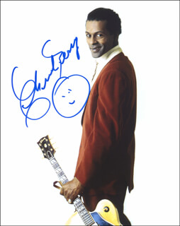 CHUCK BERRY - AUTOGRAPHED SIGNED PHOTOGRAPH  - HFSID 287041