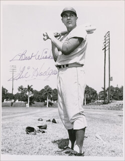 GIL HODGES - AUTOGRAPHED SIGNED PHOTOGRAPH