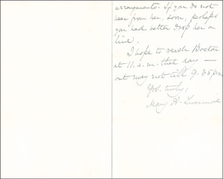 MARY A. LIVERMORE - AUTOGRAPH LETTER SIGNED 11/04/1887