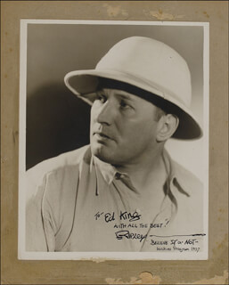 ROBERT BELIEVE IT OR NOT! RIPLEY - AUTOGRAPHED INSCRIBED PHOTOGRAPH 1937