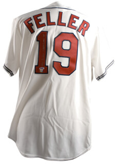 Autographs: BOB FELLER - JERSEY SIGNED