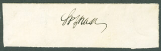 Autographs: CHIEF JUSTICE SALMON P. CHASE - SIGNATURE(S)