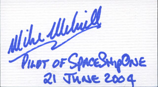 Autographs: MICHAEL W. MELVILL - BUSINESS CARD SIGNED