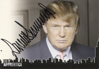 DONALD J. TRUMP - TRADING/SPORTS CARD SIGNED