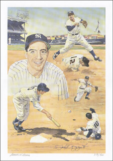 PHIL RIZZUTO - PRINTED ART SIGNED CIRCA 1997 CO-SIGNED BY: JAMES M. AMORE